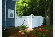 Solid Privacy with Scalloped Baluster